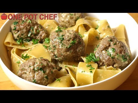Easy One Pot Swedish Meatballs with Pasta   One Pot Chef
