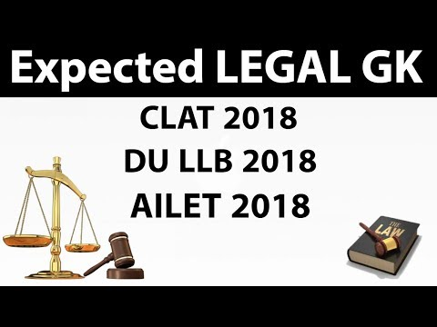 Expected Questions from Legal GK / Legal current affairs for