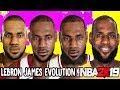 Lebron James Ratings and Face Evolution (NBA 2K4 - NBA 2K19)