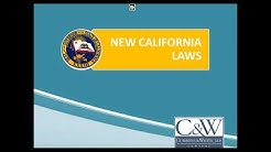 New California Employment Laws for 2018