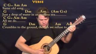 Dust in the Wind (Kansas) Fingerstyle Guitar Cover Lesson with Chords/Lyrics