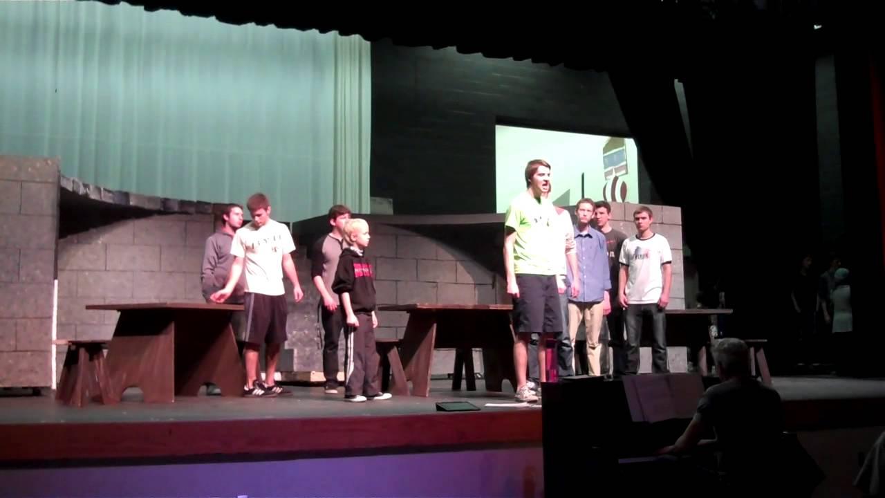 Chaparral High School Theatre practice of Les Mise'rables