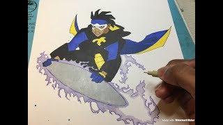 Speed drawing Static Shock  (Inktober Drawing #18)
