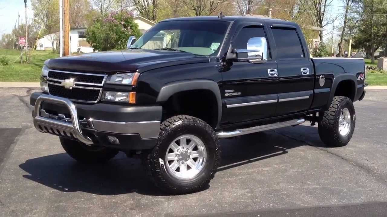 hight resolution of 2006 chevy 2500hd lt 4x4 duramax diesel lifted 5 exhaust edge box 69k miles sold youtube