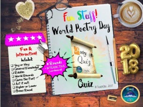 World Poetry Day : Poetry Quiz