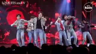 [قنبلة بانقتان] 'يغنون اغنيه نار فاير' خاص على المسرح ( BTS التركيز ) @BTS عرض اللقاء - مباشر اليوم♥