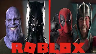 I HAVE THE POWER OF THANOS, BLACK PANTHER,DEADPOOL and THOR! Roblox: 4 Player Superhero Tycoon English
