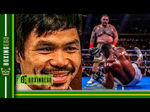 "MANNY PACQUIAO WATCHED ANTHONY JOSHUA VS ANDY RUIZ CALLS ""ONE OF GREATEST UPSETS OF ALL-TIM"""