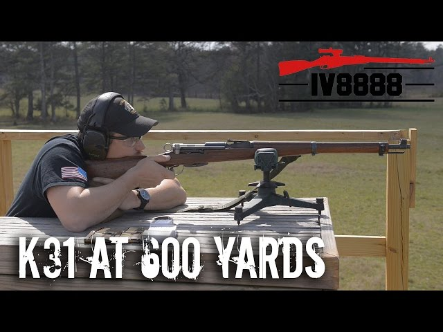 Swiss K31 Open Sights at 600 yards
