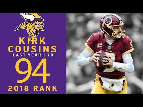#94: Kirk Cousins (QB, Vikings) | Top 100 Players of 2018 | NFL