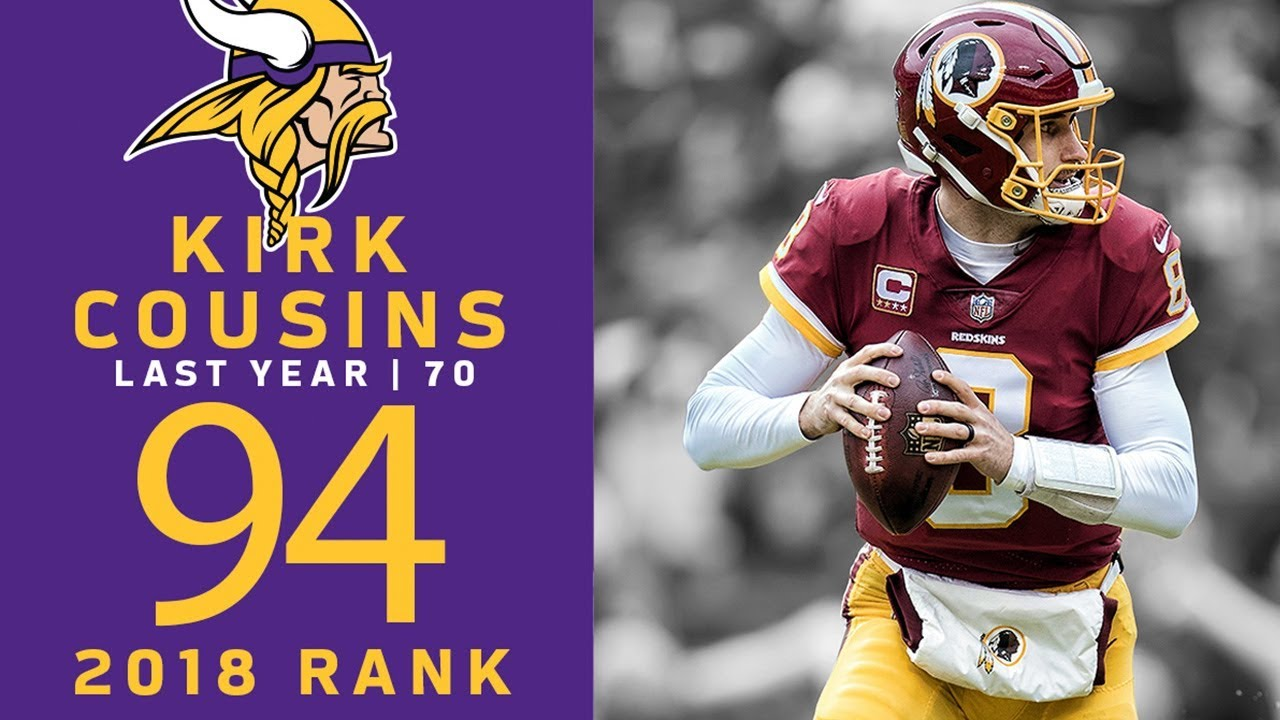 new style f1bc8 574ad #94: Kirk Cousins (QB, Vikings) | Top 100 Players of 2018 | NFL