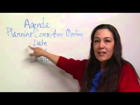 Structure  Format in Agenda Writing - YouTube