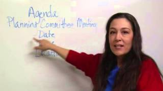 Structure & Format in Agenda Writing