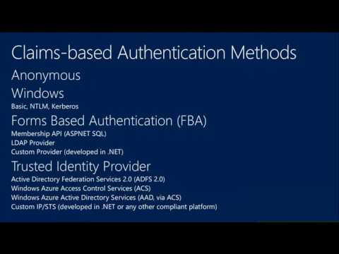 TechEd Europe 2013 Authentication and Authorization Infrastructure in Microsoft SharePoint 2013