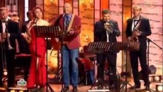 Салтыков-Щедрин шоу,Дарья Лиман и Алексей Кортнев-Патриот (муз.паузы и финальная песня)
