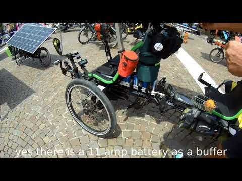 The Sun Trip, Solar Powered Bike race from Lyon to Canton