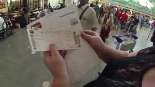 самостоятельная регистрация self check in в терминале AirAsia
