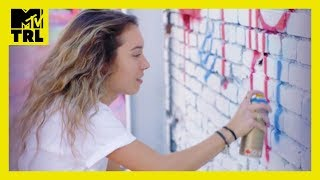 Kristen McAtee Tries Street Art 🎨 w/ Risk | Tries It | TRL