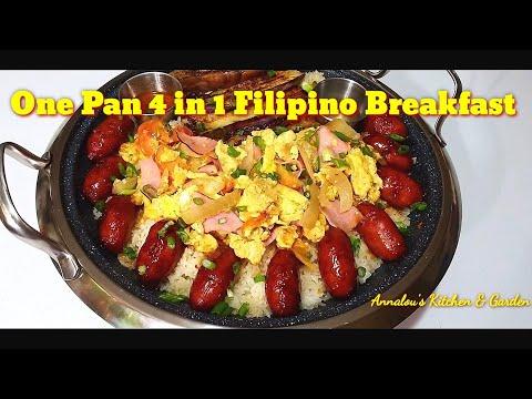 One Pan 4 In 1 Filipino Breakfast 4 Recipe In One Video From Annalou S Kitchen Garden Youtube
