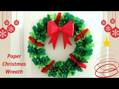 DIY Paper Christmas Wreath | Christmas Crafts | How To Make A Paper Christmas Wreath