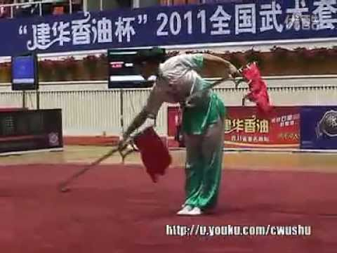 2011 China Traditional Wushu Nationals / Shuang Gou - Wang Peng Fei (Gansu)