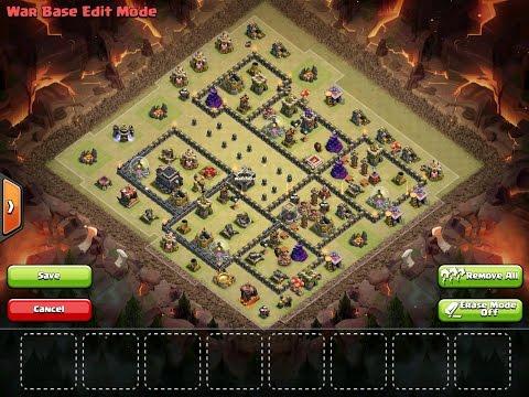 Clash of Clans   ELITE TH9 DEADZONE WAR BASE w/ EXPLANATION   Base Explanation #2