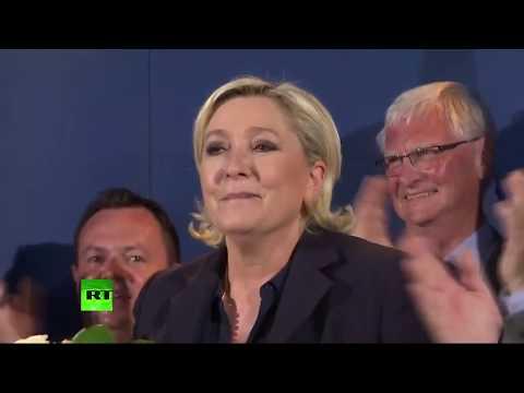 Marine Le Pen prend la parole à l'issue des premières estimations (Direct du 18.06)