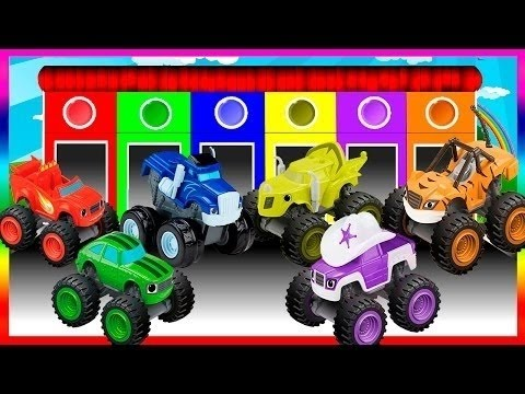 Blaze and the Monster Machines Colors for Children to Learn with Car - Learning Videos