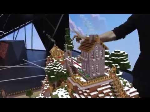 Minecraft on the Microsoft Hololens E3 2015 (Virtual Reality)