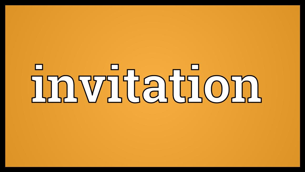 Invitation Meaning YouTube