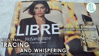 ASMR Tracing Magazine • Whispering (kind of fast)