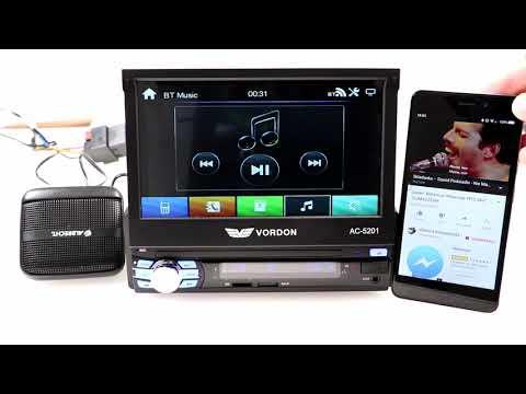 Radio samochodowe 1 DIN z wysuwanym ekranem Vordon AC 5201