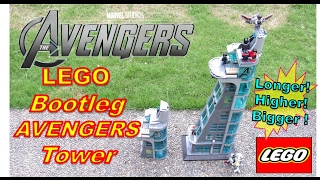 LEGO AVENGERS Tower bootleg - Taller & Bigger - SY Brand & DeCool Brand size comparison (Raw video)