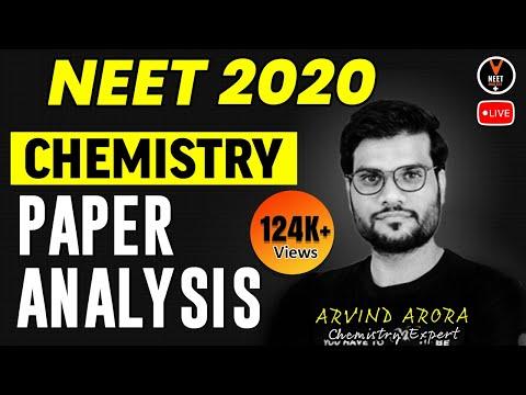 NEET 2020 - Chemistry Paper Analysis   NEET Chemistry   NEET Exam 2020   Arvind Arora   Vedantu NEET