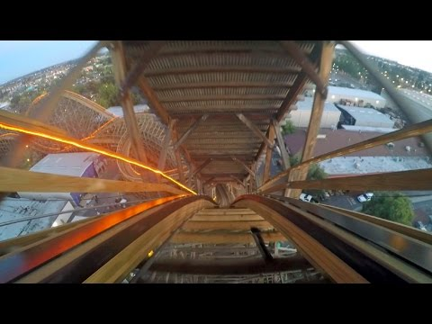 GhostRider at sunset on-ride HD POV Knott's Berry Farm