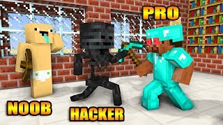 Monster School : NOOB VS PRO VS HACKER BUILD CHALLENGE - Minecraft Animation