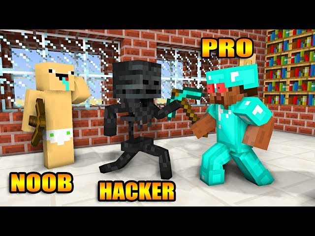 Monster School : NOOB VS PRO VS HACKER BUILD CHALLENGE - Minecraft Animation