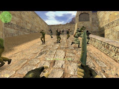 Counter Strike 1.6 Challenge {1 Best Player Vs 20 Expert Bots} Gameplay By   GamerZ Corner  