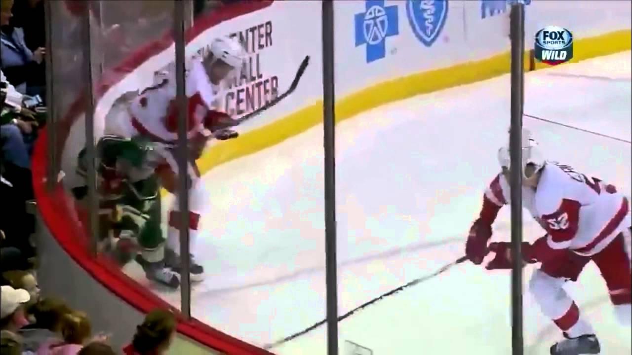 Jason Zucker First Nhl Goal Vs Detroit Red Wings 2 17 13 Youtube