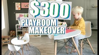 KMART & IKEA Minimalist Playroom Makeover  / Under $300 Budget
