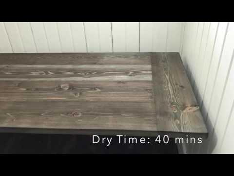 DIY Farmhouse Desktop- Weatherwood Stain Finish
