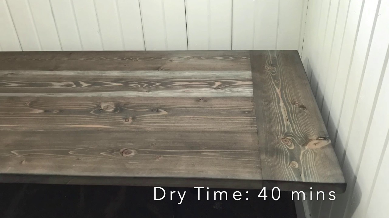 Diy Farmhouse Desktop Weatherwood Stain Finish