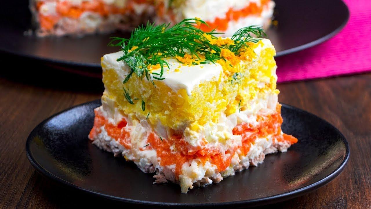"Salata ""Mimoza"" - o salata in straturi ce nu lasa indiferent pe nimeni Cookrate-Romania"