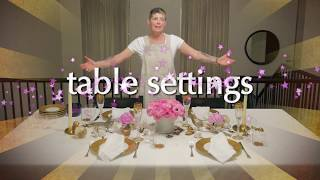 Dinner Party Tonight: Table Settings!