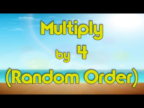 Multiply  4 Random Order  Learn Multiplication  Multiply  Music  Jack Hartmann