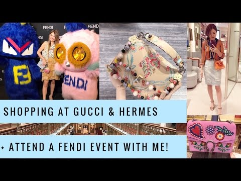 LUX SHOPPING VLOG SYDNEY - Part 2 | Gucci, Hermes + Fendi Grand Opening | Mel in Melbourne