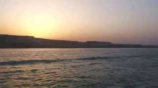 Video Exclusive: New waves of the Suez Canal Canal at sunset