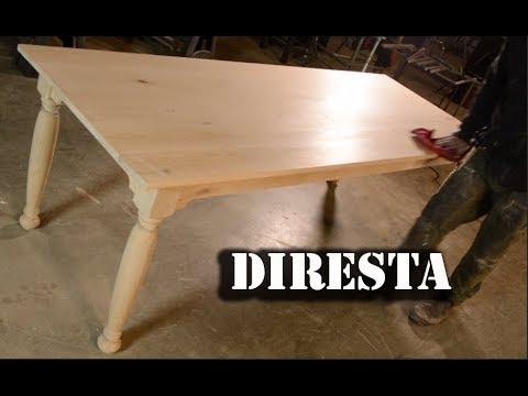 Diresta Oak Farm Table  Youtube