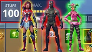 Battle Pass LvL 100 | All Skins & Rewards of Season 4 | Fortnite Battle Royale