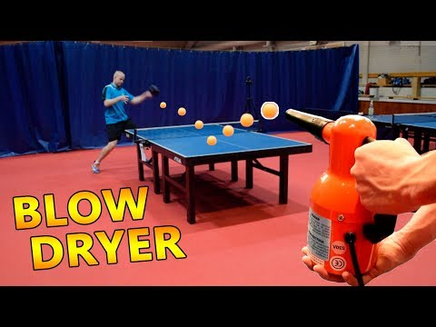 Can you play ping pong with a BLOW-DRYER?